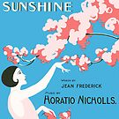 I LOVE THE SUNSHINE (vintage illustration) by ART INSPIRED BY MUSIC