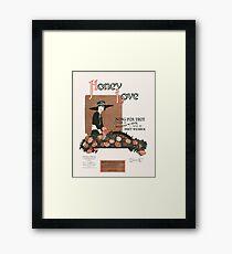 HONEY LOVE (vintage illustartion) Framed Print