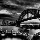 Sydney Harbour Bridge HDR B&W by Andrew  MCKENZIE