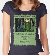 Ranger Hrothgar Says - Masculinity Women's Fitted Scoop T-Shirt