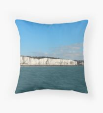 Last cliffs of the United Kingdom near Dover Throw Pillow