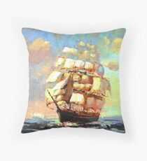 Colorful Seascape h Throw Pillow