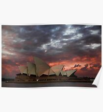 Opera House Sunset Poster