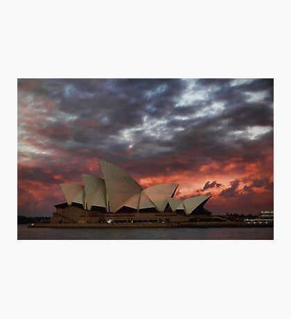 Opera House Sunset Photographic Print