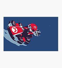 Mario Karting Photographic Print