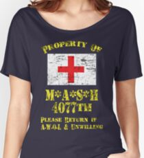 Property Of Mash 4077th Women's Relaxed Fit T-Shirt