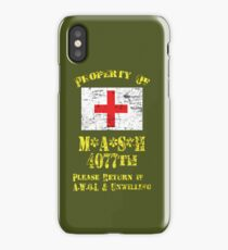 Property Of Mash 4077th iPhone Case/Skin