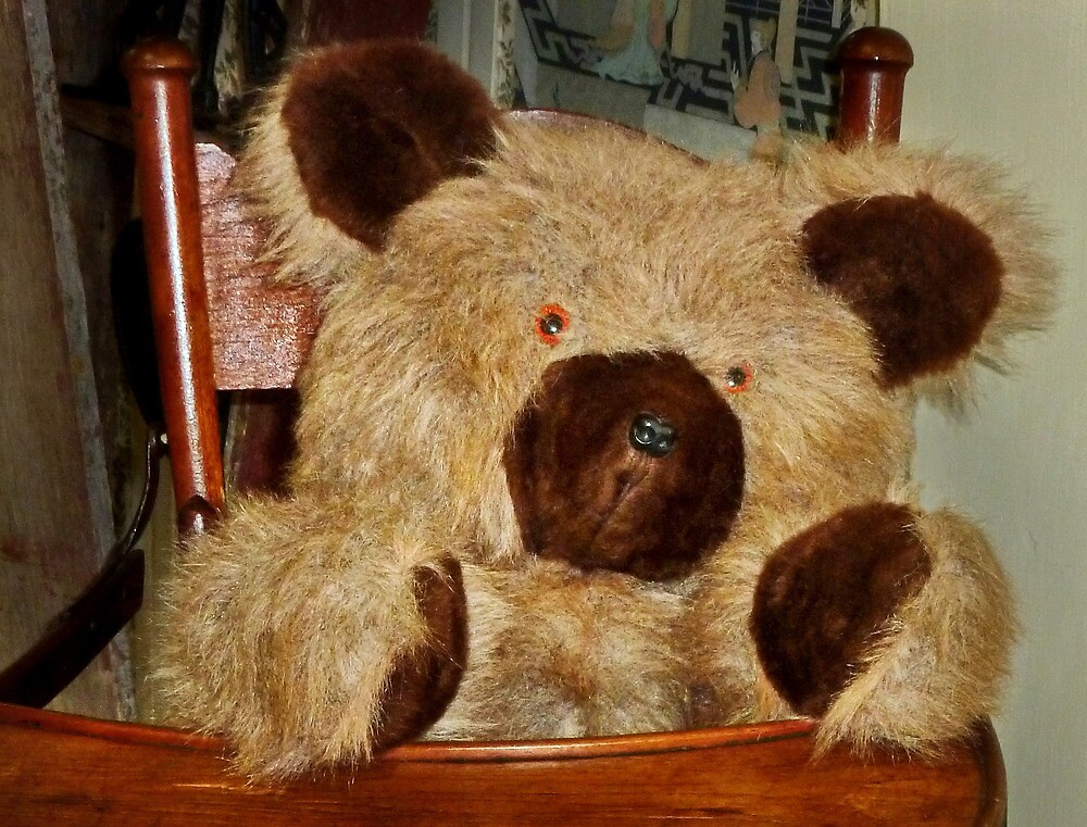 Teddy in a High Chair by Nadya Johnson