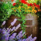 Tuscan Flower Barrel by Lynnette Peizer