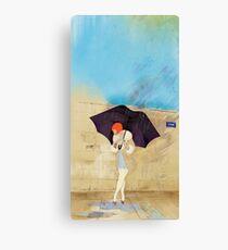 Rainy Day Flower Canvas Print