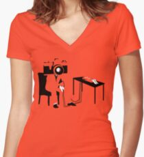 Camera's Don't Lie Women's Fitted V-Neck T-Shirt
