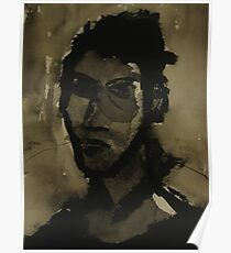 self-portrait in ink Poster