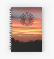 Barn Silhouette on a Layered Sunset Spiral Notebook