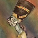 Nefertiti (as a fish) by Ellen Marcus