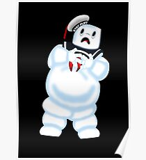 Scared Mr. Stay Puft. Poster