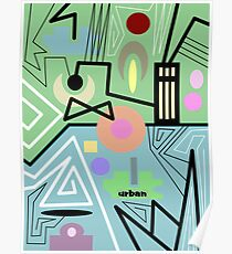 abstract urban 10 Poster