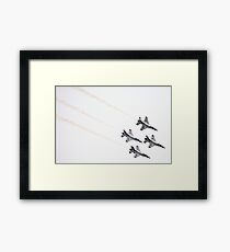Air Force Thunderbirds Inverted Flying Framed Print