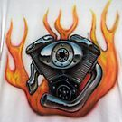 V Twin Airbrushed Shirt by Lee Twigger