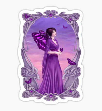 Amethyst Birthstone Fairy Sticker