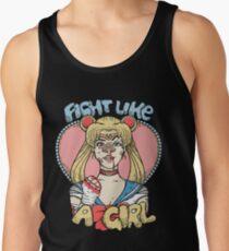 Sailor Moon- Fight Like a Girl Tank Top