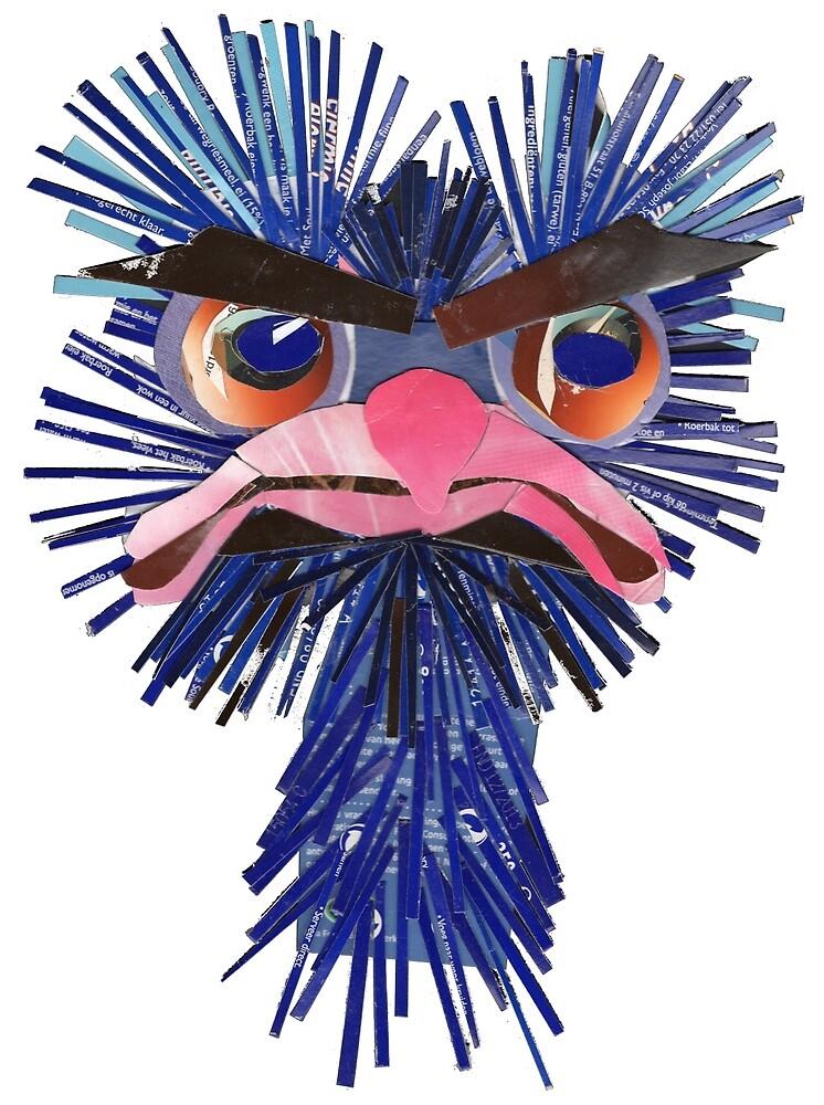 very angry ostrich by Ruud van Koningsbrugge