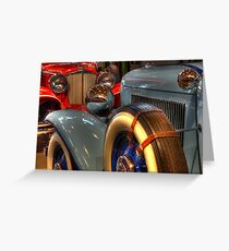 1931 Cord 1932 Auburn Head To Head Greeting Card