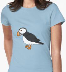 Black & White Puffin Bird with Orange Feet T-Shirt