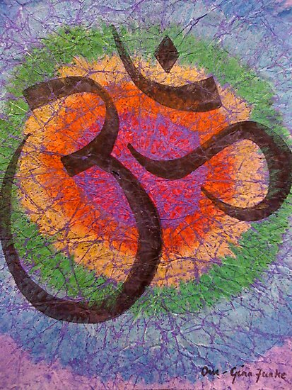 Chakra inspired Om by ginaf