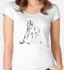 Cool T-shirt  Horse Andalusian Angel Women's Fitted Scoop T-Shirt