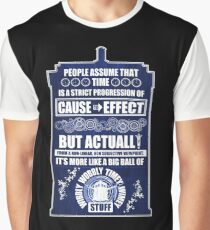 Doctor Who - Blink - People assume that time is a strict progression of cause to effect (WoodTexture) Graphic T-Shirt