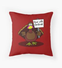 Down With Christmas Throw Pillow