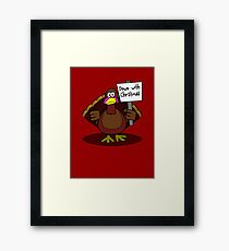 Down With Christmas Framed Print