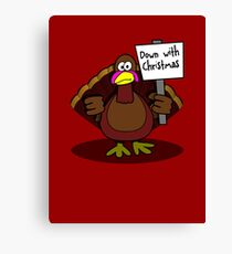 Down With Christmas Canvas Print