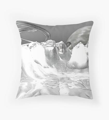 White World (not grungy) Throw Pillow