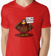Down With Christmas V-Neck T-Shirt