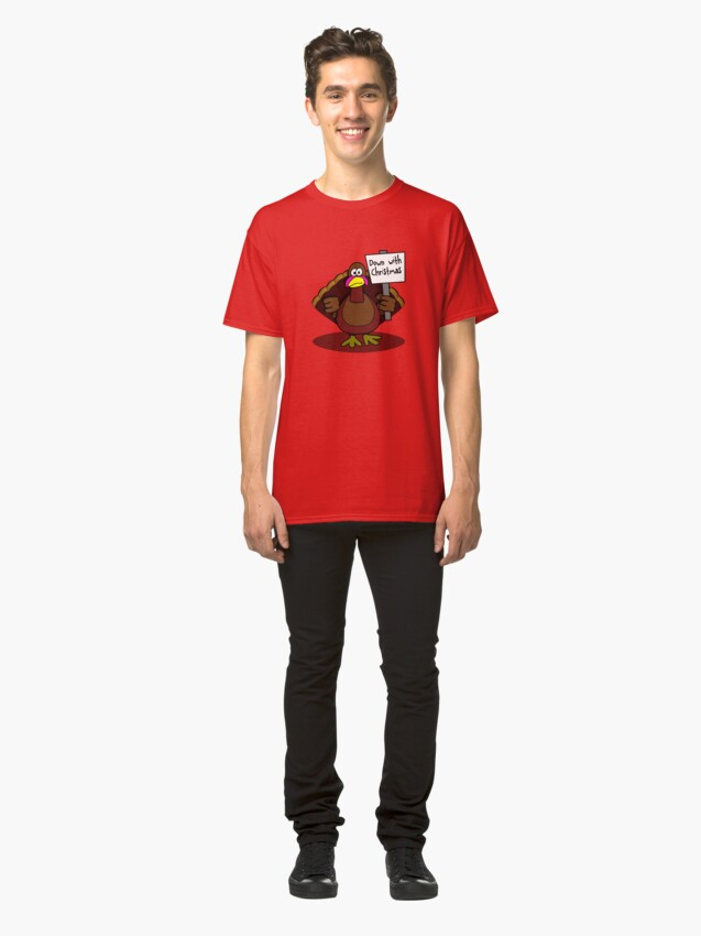 Alternate view of Down With Christmas Classic T-Shirt