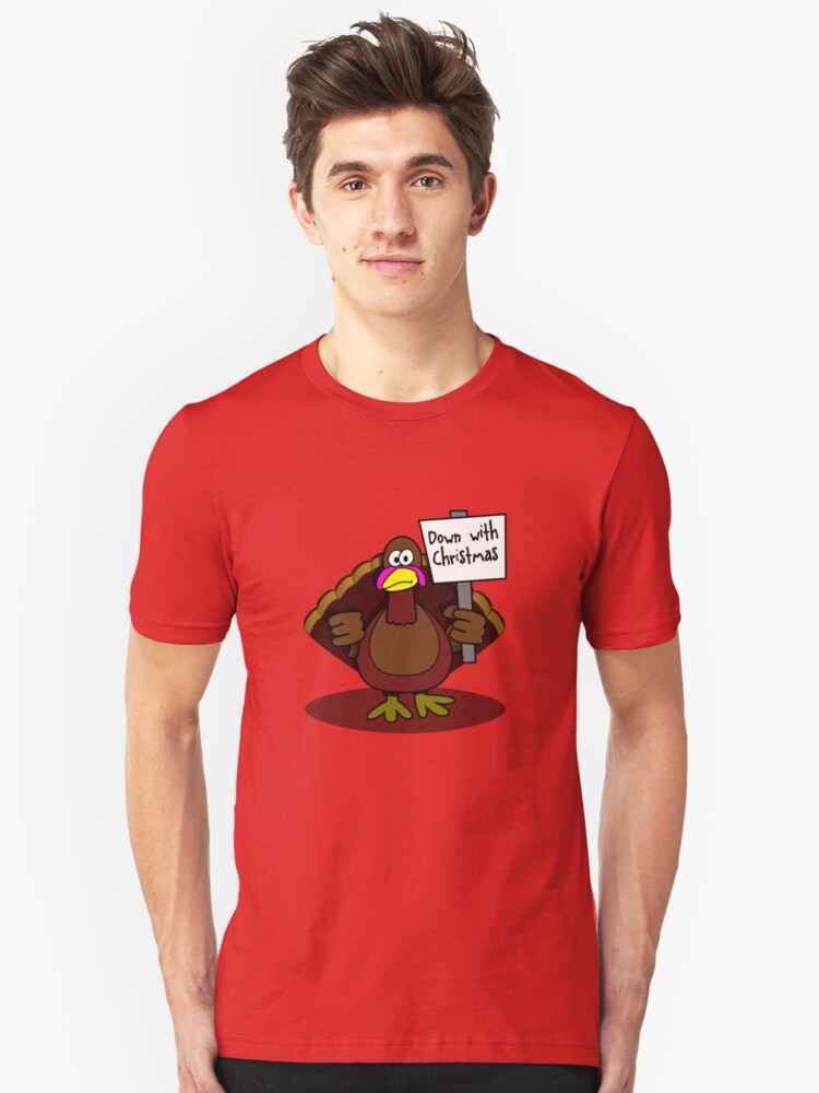 Down With Christmas Unisex T-Shirt Front