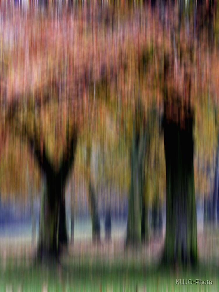 Group of Trees in Motion by KUJO-Photo
