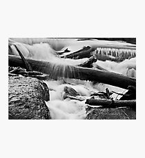 Twigs, water and rocks Photographic Print