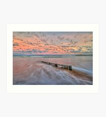 Ocean Grove Beach HDR Art Print