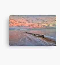 Ocean Grove Beach HDR Canvas Print