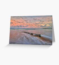 Ocean Grove Beach HDR Greeting Card