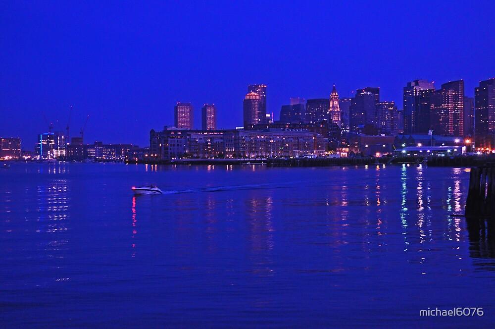 Boston skyline at night by michael6076