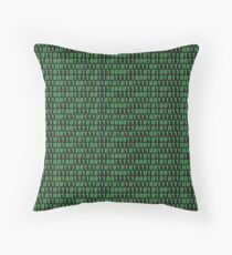 Binary code on old fashioned computer screen wallpaper Throw Pillow