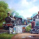 Early railway painting by Mike Jeffries