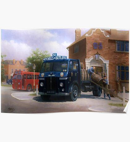 Mitchells and Butlers' Leyland Beaver Poster