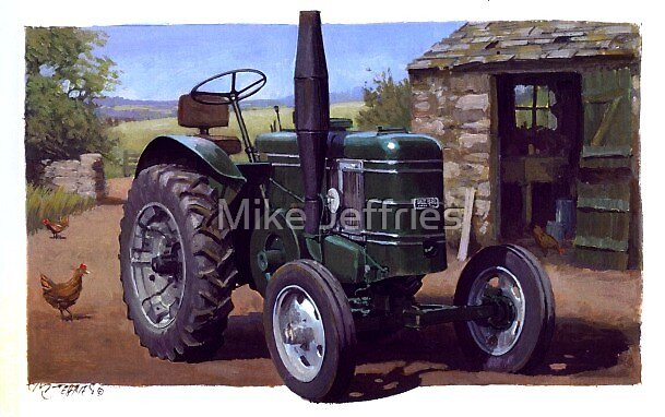 Field Marshall tractor by Mike Jeffries