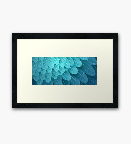 Blue & Yellow Macaw (wing) Framed Print