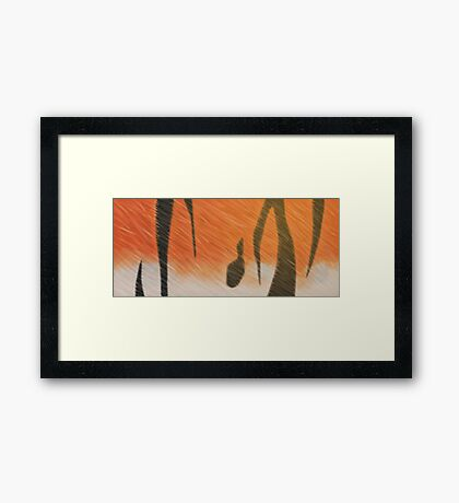Indo-Chinese Tiger Framed Print