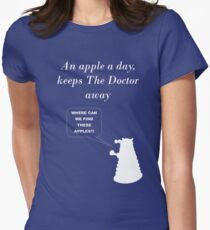 An apple a day... Women's Fitted T-Shirt